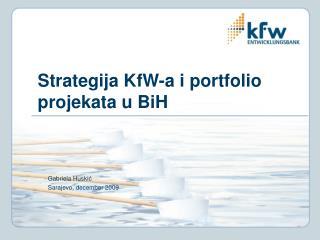 Strategija KfW-a i portfolio projekata u BiH