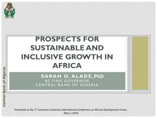 PROSPECTS FOR SUSTAINABLE AND INCLUSIVE GROWTH IN  AFRICA