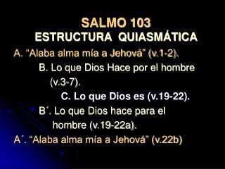 SALMO 103 ESTRUCTURA  QUIASMÁTICA