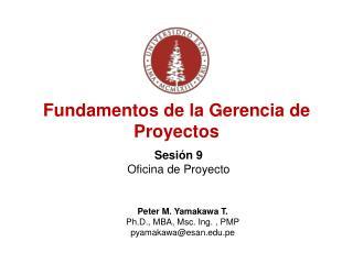Fundamentos de la Gerencia de Proyectos