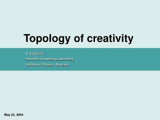 Topology of creativity