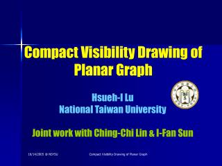 Compact Visibility Drawing of Planar Graph
