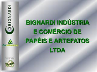 BIGNARDI INDÚSTRIA E COMÉRCIO DE  PAPÉIS E ARTEFATOS LTDA