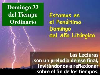 Domingo 33 del Tiempo Ordinario