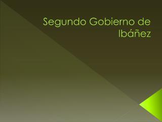 Segundo Gobierno de Ib��ez