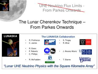 The Lunar Cherenkov Technique – From Parkes Onwards