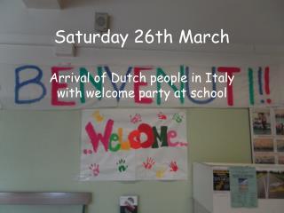Saturday 26th March