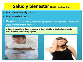 Salud  y  bienestar Health  and  wellness