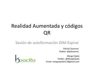 Realidad Aumentada y códigos QR