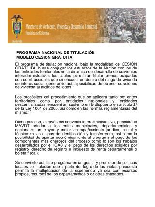 PROGRAMA NACIONAL DE TITULACI N MODELO CESI N GRATUITA