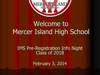 Welcome to  Mercer Island High School