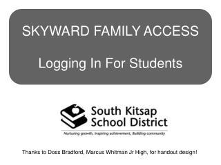 Thanks to Doss Bradford, Marcus Whitman Jr High, for handout design!