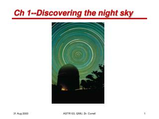 Ch 1--Discovering the night sky