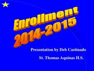 Enrollment 2014-2015