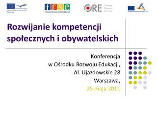 Rozwijanie kompetencji społecznych i obywatelskich