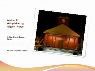 Kapittel 11: Ytringsfrihet og religion i Norge