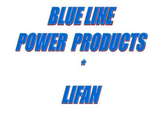 BLUE LINE POWER  PRODUCTS * LIFAN