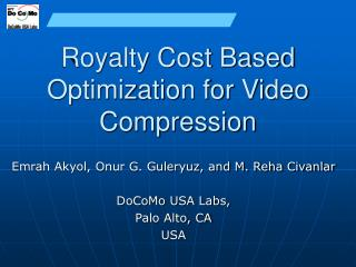 Royalty Cost Based Optimization for Video Compression