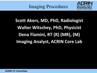 Imaging Procedures