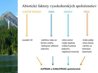 Abiotické faktory vysokohorských spoločenstiev