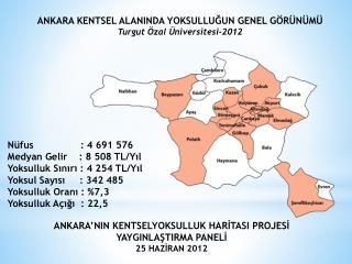 Nüfus                : 4 691 576 Medyan Gelir    : 8 508 TL/Yıl Yoksulluk  Sınırı :  4 254  TL/Yıl
