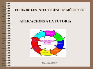 TEORIA DE LES INTEL LIG NCIES M LTIPLES