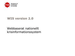 WIS version 2.0