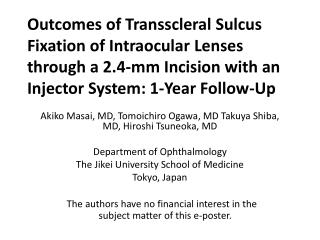 Akiko Masai, MD, Tomoichiro Ogawa, MD Takuya Shiba, MD, Hiroshi Tsuneoka, MD