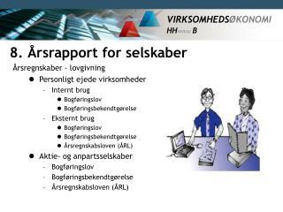 8. Årsrapport for selskaber