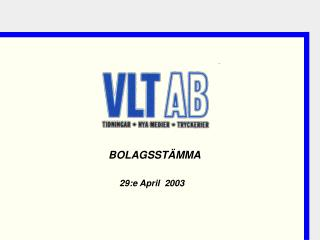 29:e April  2003