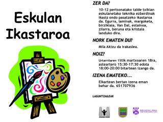 Eskulan  Ikastaroa