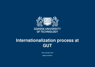 Internationalization process at  GUT