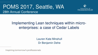 Implementing Lean Manufacturing   why, what  how