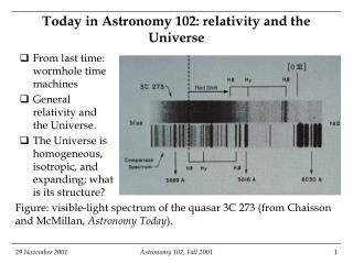 Today in Astronomy 102: relativity and the Universe