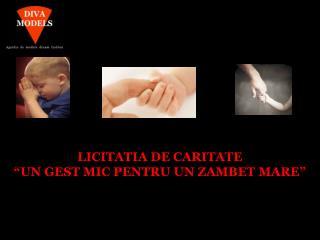 """LICITATIA DE CARITATE  """"UN GEST MIC PENTRU UN ZAMBET MARE"""""""