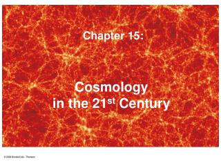 Cosmology  in the 21 st  Century