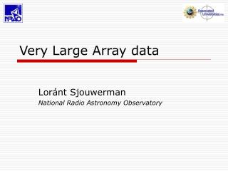 Very Large Array data