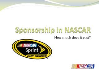 Sponsorship in NASCAR