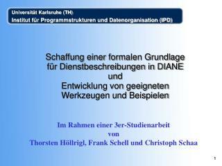 Im Rahmen einer 3er-Studienarbeit  von  Thorsten Höllrigl, Frank Schell und Christoph Schaa