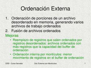 Ordenación Externa