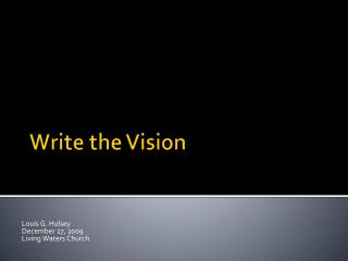 Write the Vision