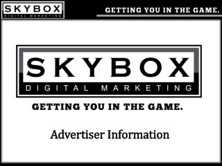 Advertiser Information