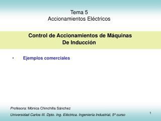 Tema 5 Accionamientos El ctricos   Control de Accionamientos de M quinas  De Inducci n