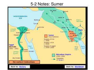 5-2 Notes: Sumer