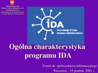 MINISTERSTWO SPRAW  WEWNĘTRZNYCH I ADMINISTRACJI Departament Rozwoju Informatyki