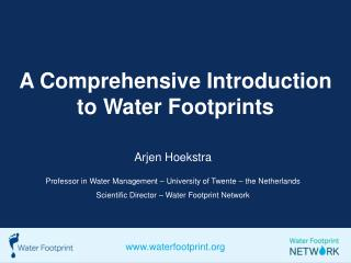 A Comprehensive Introduction to Water Footprints