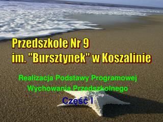 """Przedszkole Nr 9 im. """"Bursztynek"""" w Koszalinie"""
