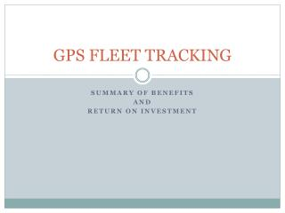 GPS FLEET TRACKING