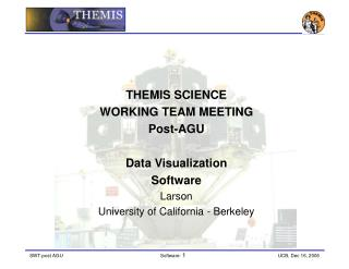 THEMIS SCIENCE  WORKING TEAM MEETING Post-AGU  Data Visualization Software Larson