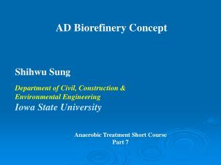 AD Biorefinery Concept